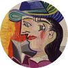 Pablo picasso woman with blue hat