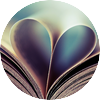 Book heart wallpaper 960x600