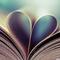 Book heart wallpaper 960x600
