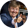 Willem alexander thumbs up