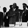 Mandela als 1e zwarte president van za